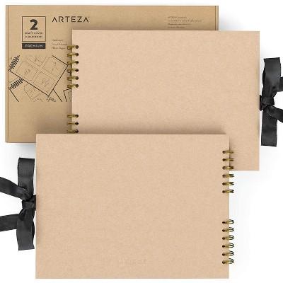 "Arteza Spiral-Bound Scrapbook, 8.5"" x 11"", 40 Black Sheets - Pack of 2"