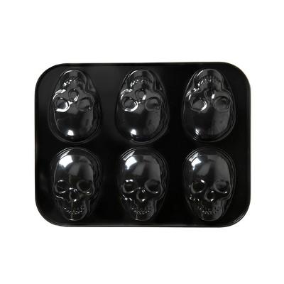 """Nordic Ware 13.8"""" x 10.5"""" Steel Skull Halloween Cakelet Pan Black"""