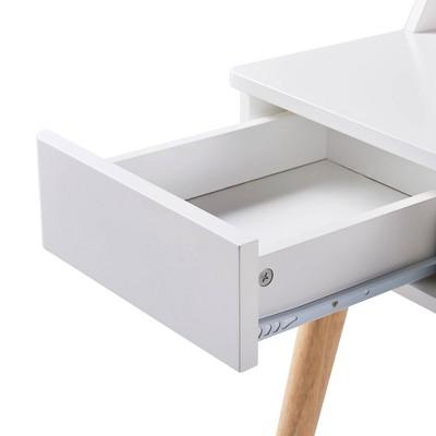 Creativo Stylish Desk White/Natural - Versanora : Target