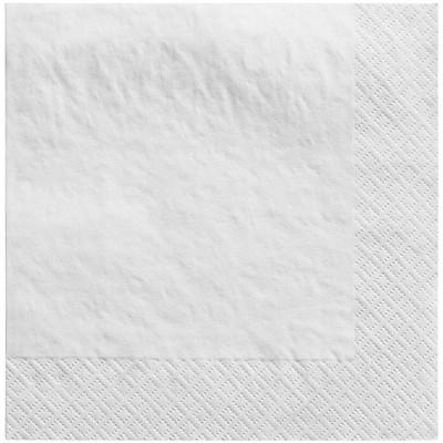 60ct Disposable Lunch Napkins White - Spritz™