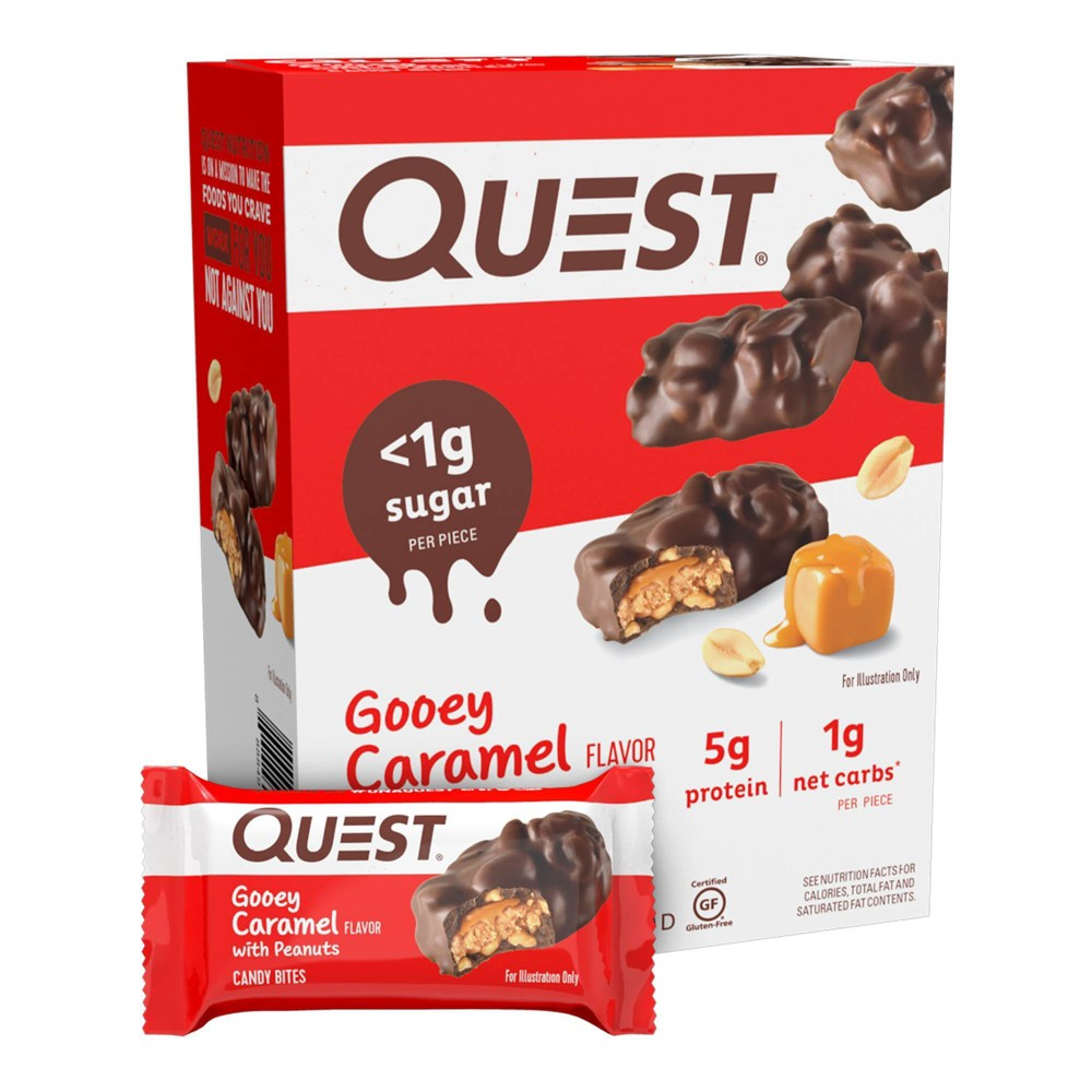 Quest Nutrition Gooey Caramel Candy Bites 8ct