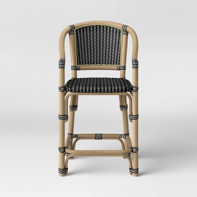 Parksley Rattan and Woven Counter Height Barstool - Threshold™