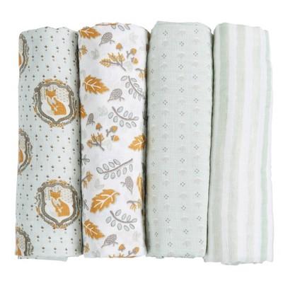Patina Vie Muslin Swaddle Blanket Set - Fox4pc