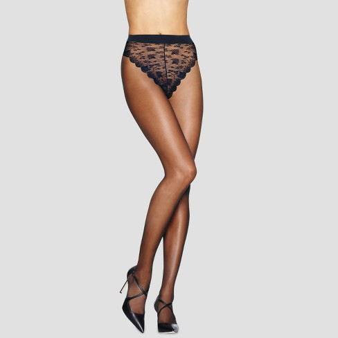 9a746c31165 Hanes® Premium Women s Silky Sheer Lace Panty Control Top Pantyhose ...