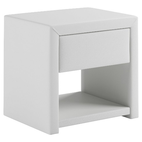 San Antonio Leatherette Upholstered Nightstand - CorLiving - image 1 of 3