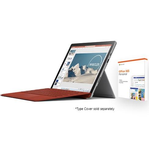 Microsoft Surface Pro 7 12 3 Intel Core I5 8gb Ram 128gb Ssd Platinum Office 365 Personal 1 Year Target