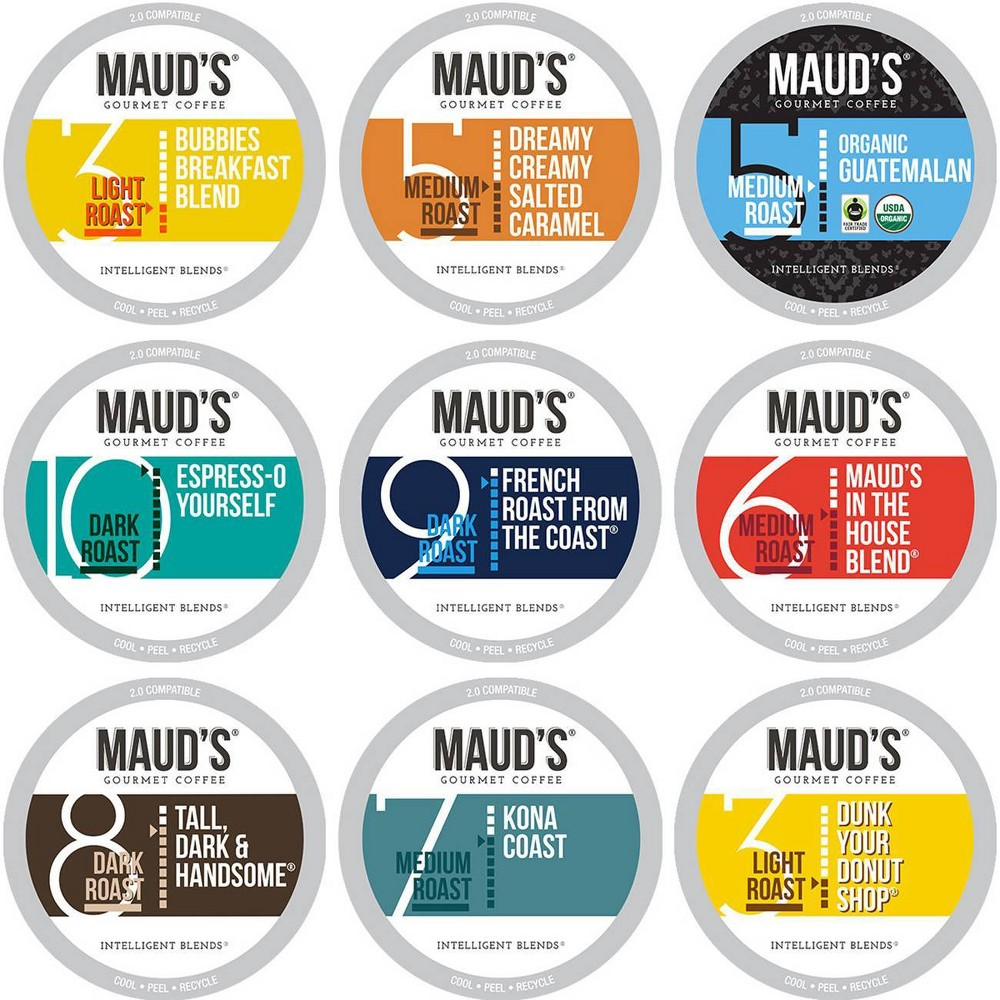 Maud 39 S 9 Flavor Original Coffee Variety Pack Recyclable Single Serve Coffee Pods 8211 100 Arabica Coffee California Roasted 80ct