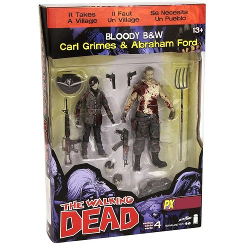 McFarlane Toys The Walking Dead Comic Series 4 Carl Grimes and Abraham Ford Action Figure 2-Pack [Bloody Black and White] - image 1 of 3