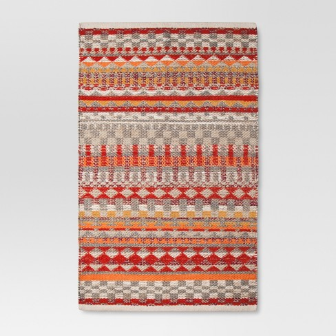 "Red Woven Accent Rug - (2'6""x4') - Threshold™ - image 1 of 2"