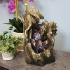 """Sunnydaze Indoor Home Decorative Cascading Caves Waterfall Tabletop Water Fountain with LED Lights - 14"""" - image 3 of 4"""