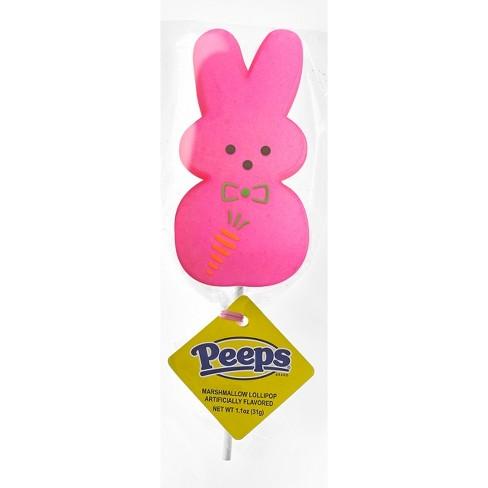 786d6176dba28 Peeps Pink Marshmallow Easter Bunny Lollipop - 1.1oz   Target