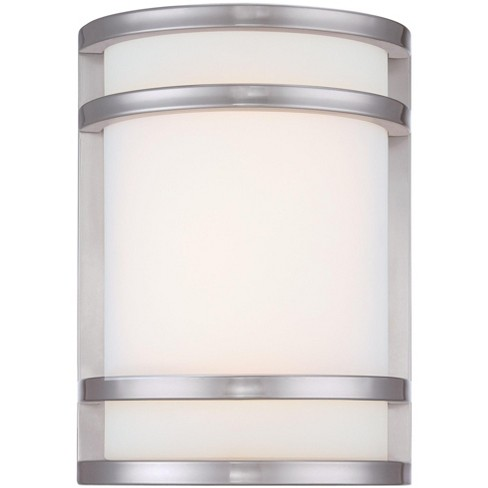 """The Great Outdoors 9801-144-L Bay View Single Light 9-1/2"""" Height LED Outdoor Wall Sconce in Brushed Stainless Steel - image 1 of 2"""