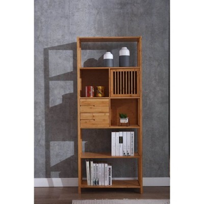 Selma Bamboo Bookcase Right Facing Spindle Cabinet - Boraam