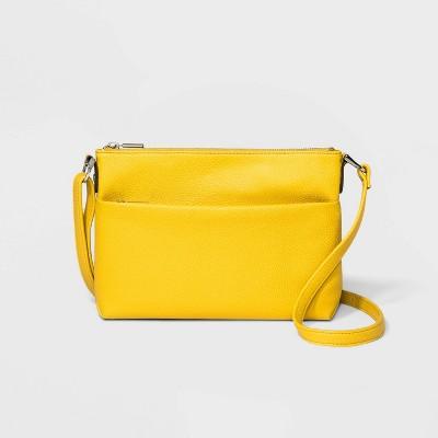 Value Flat Crossbody Bag - A New Day™ Summer Wheat