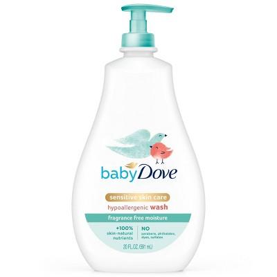 Baby Dove Fragrance Free Moisture Sensitive Skin Hypoallergenic Wash - 20 fl oz