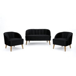 3pc Amaia Modern New Velvet Chat Set - Christopher Knight Home