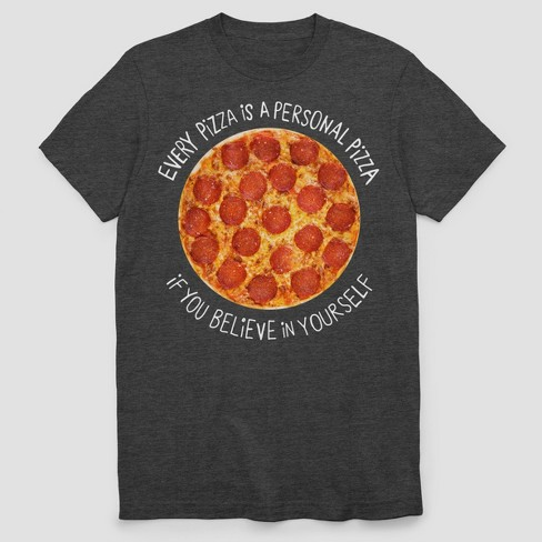 Men's Personal Pizza Short Sleeve T-Shirt - Charcoal Heather - image 1 of 1