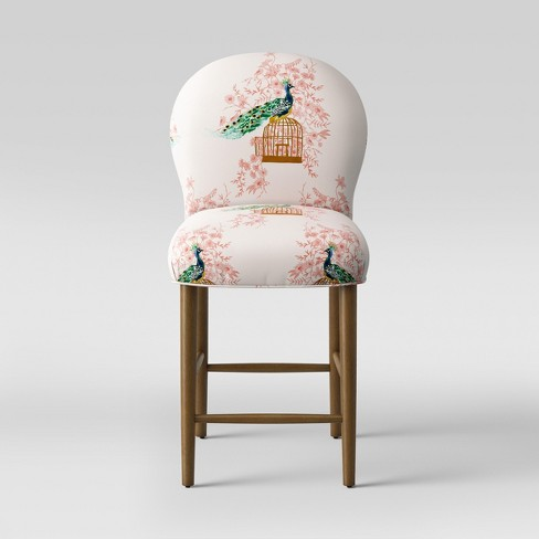 "27"" Caracara Rounded Back Counter Stool Peacock Blush - Opalhouse™ - image 1 of 5"