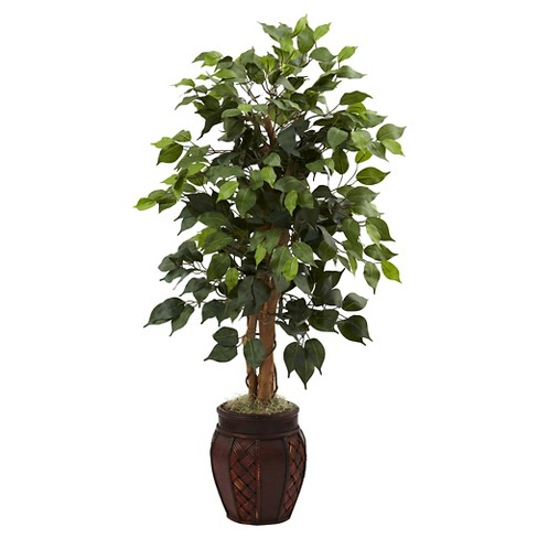 "Nearly Natural Ficus Tree with Decorative Planter Green (44"") - image 1 of 1"
