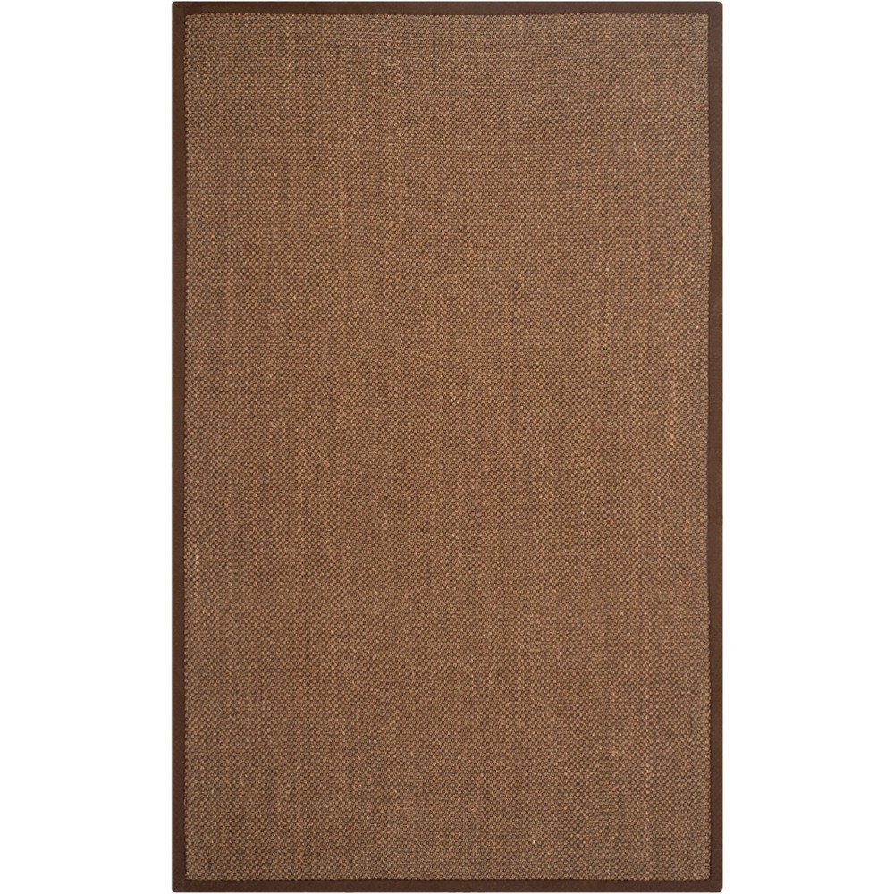 4'X6' Solid Loomed Area Rug Brown - Safavieh