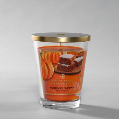 11.5oz Lidded Glass Jar Bourbon Pumpkin Candle - Home Scents by Chesapeake Bay Candle