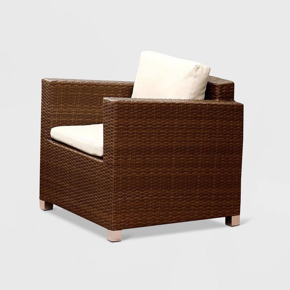 Azusa Outdoor Wicker Armchair - Brown - Abbyson Living, Beige
