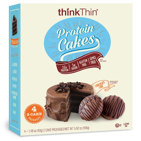 ThinkThin Chocolate Cake Flavored Protein Cakes 4ct 148oz Target