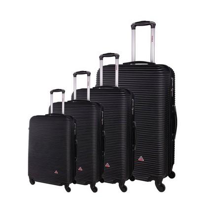 InUSA Royal Lightweight Hardside Spinner 4pc Luggage Set - Black