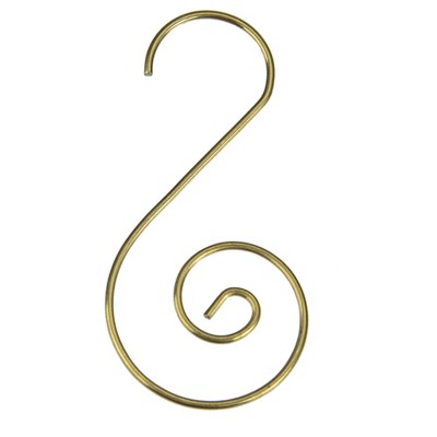 Northlight Club Pack of 40 Gold Christmas Ornament Hooks 1.75""