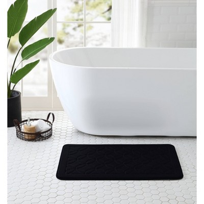 20 X32  Chanel Memory Foam Bath Rug Black - VCNY