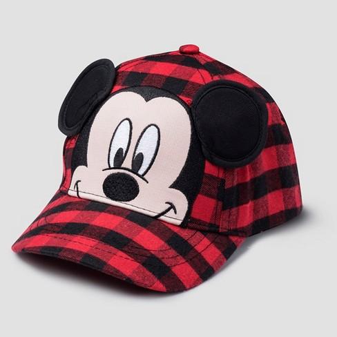 4e5e7dea5e8 Toddler Boys  Mickey Mouse   Friends Mickey Mouse Plaid Baseball Hat - Black  One Size   Target