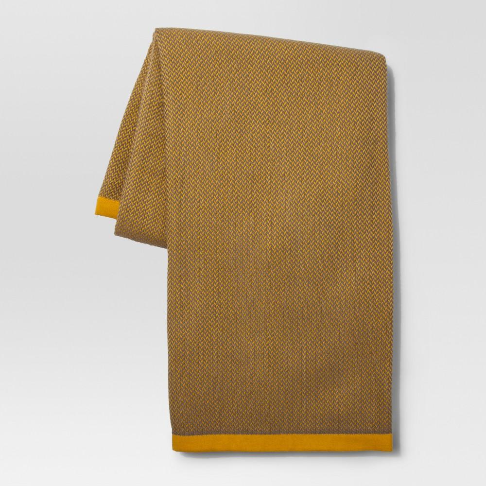 Herringbone Yellow Throw Blanket - Project 62