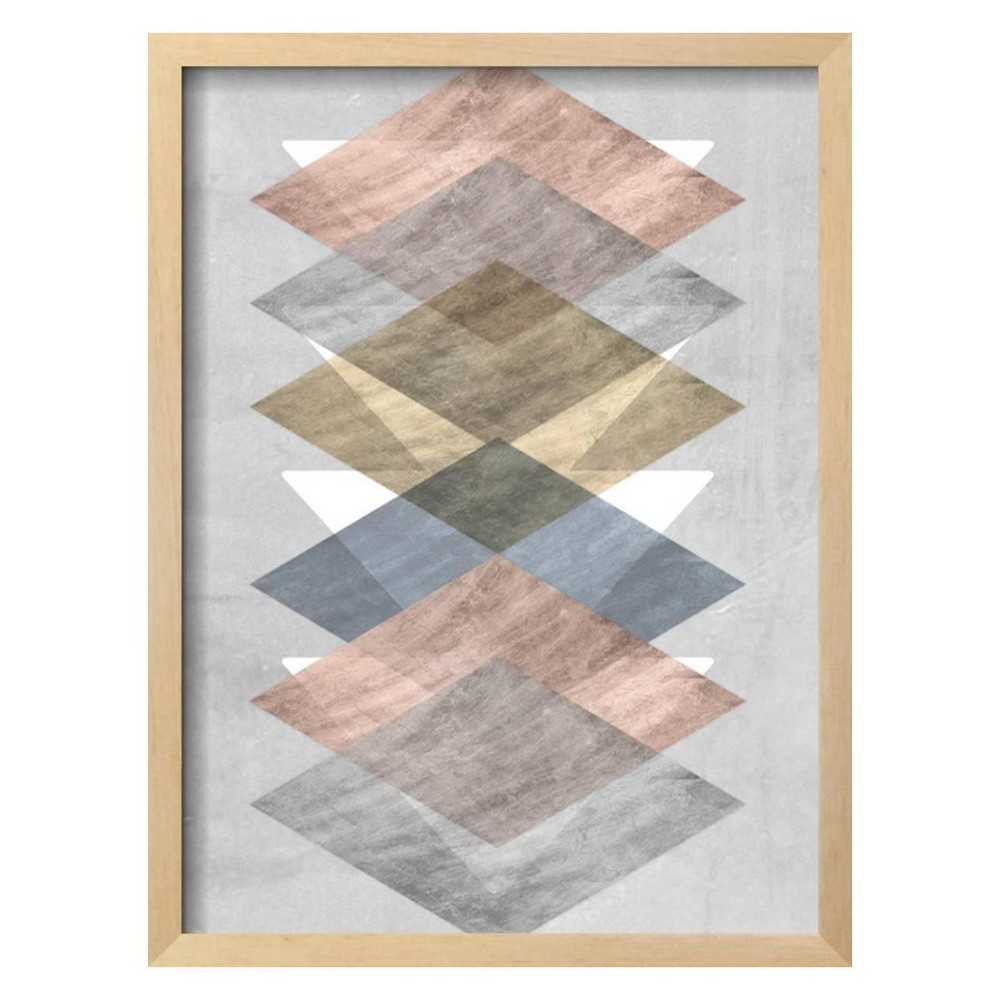 Diamond Allign II By Jennifer Goldberger Framed Wall Art Poster Print 16