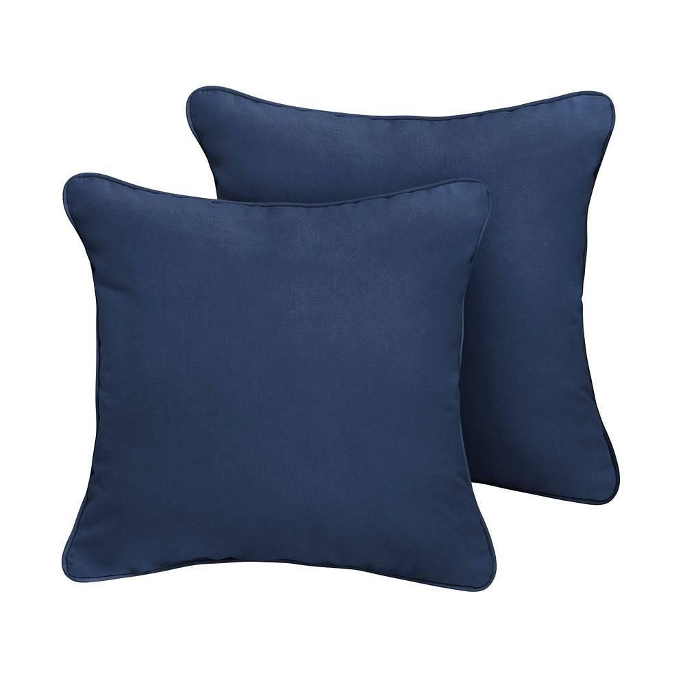 Sunbrella 2pk Canvas Outdoor Throw Pillows Navy