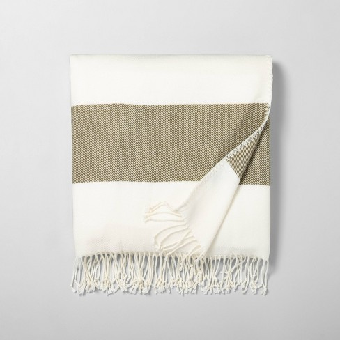 Border Stripe Throw Blanket - Hearth & Hand™ with Magnolia - image 1 of 2