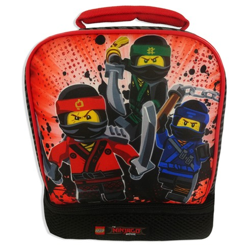 Lego Ninjago Dual Compartment Lunch Bag - Black/Red - image 1 of 4