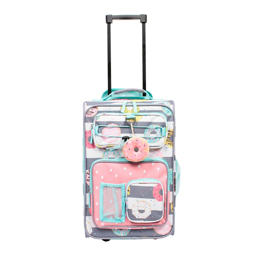 """Image of """"Crckt 18"""""""" Kids Carry On Suitcase - Donut, Girl's, Pink Gray"""""""