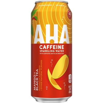 AHA Mango Black Tea Sparkling Water - 16 fl oz Can