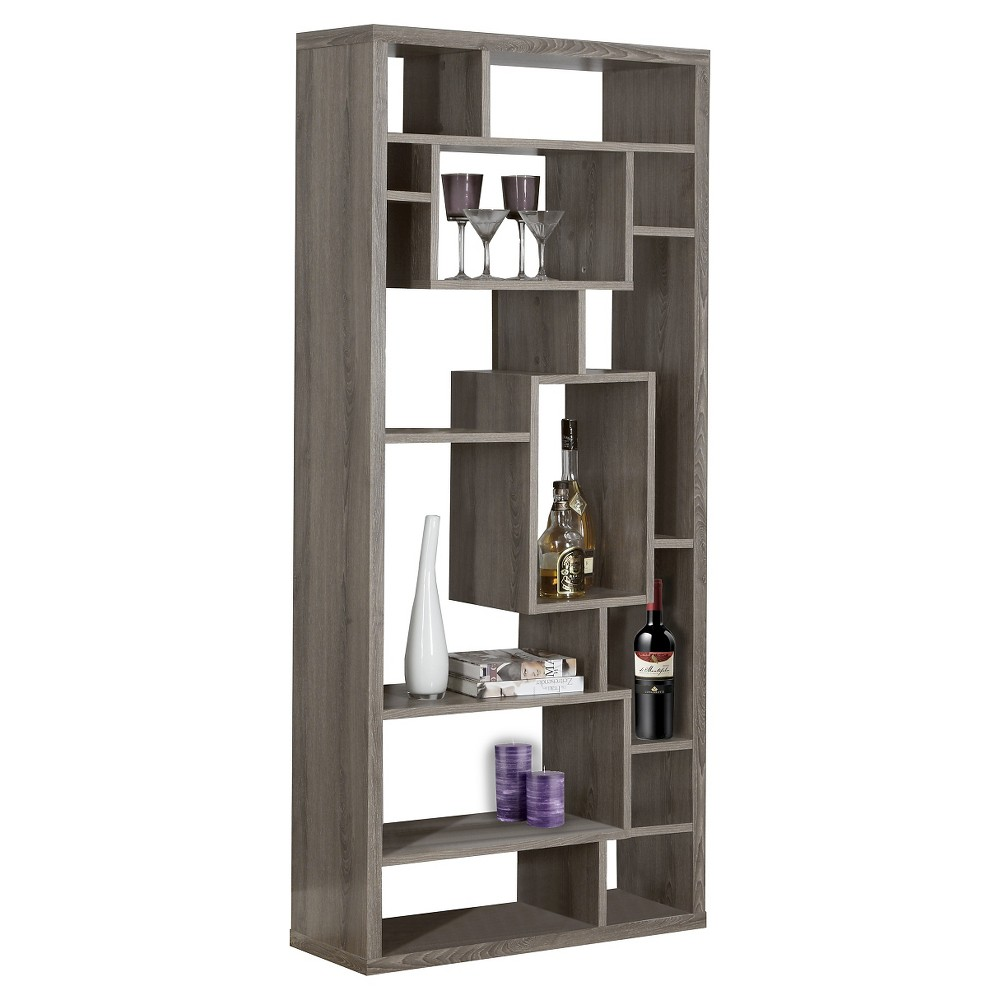 Reclaimed Look 72 Bookcase - Dark Taupe - EveryRoom