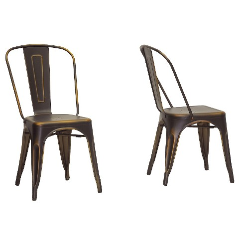 French Industrial Bistro Chair - Antique Copper (Set Of 2) - Baxton Studio - image 1 of 4