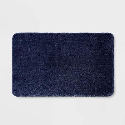 """20""""x34"""" Performance Nylon Bath Rug Navy Blue - Threshold™"""