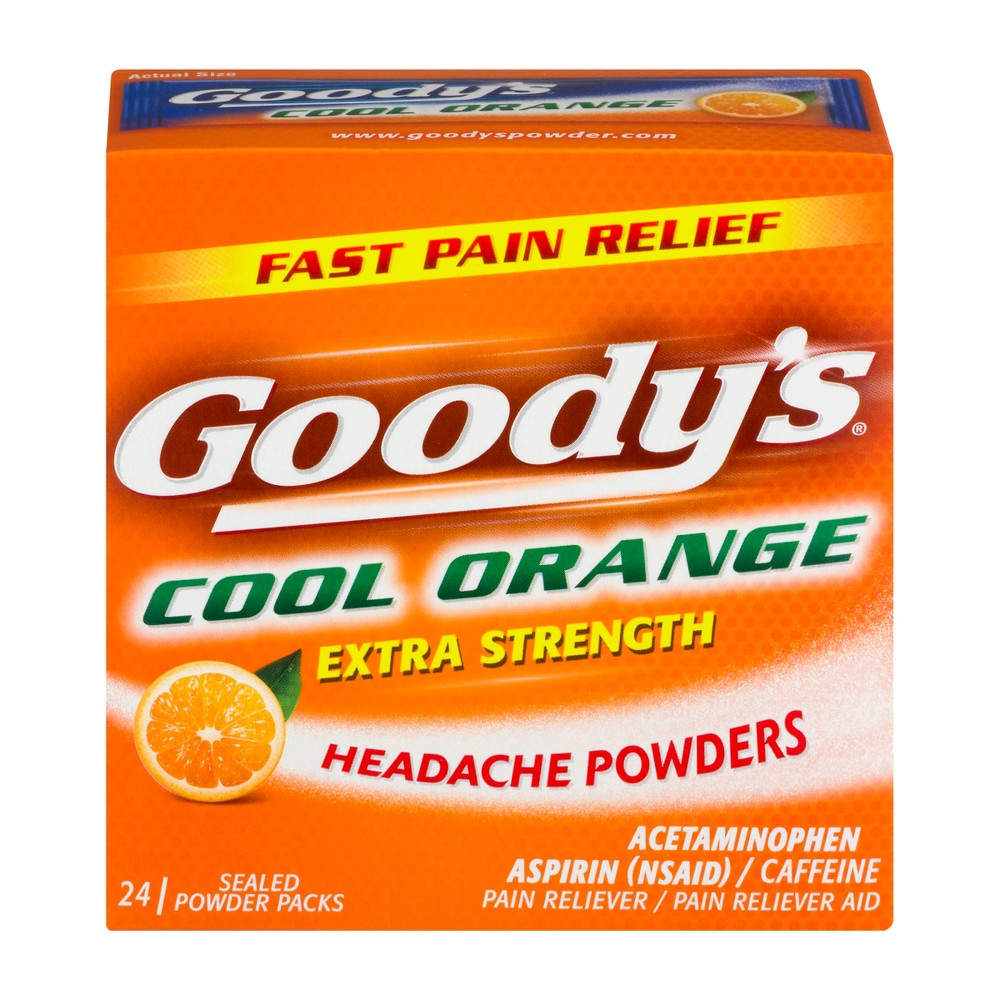 Goody's Headache Relief Powder - Acetaminophen - Cool Orange - 24ct