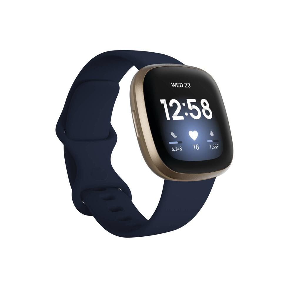 Fitbit Versa 3 Smartwatch - Pale Yellow Gold/Midnight