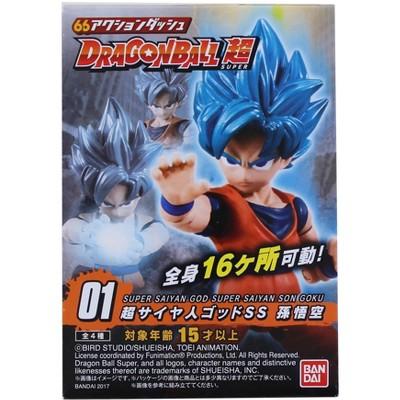 Bandai Dragon Ball Super Power 66 Mini Figure | Super Saiyan God Super Saiyan Son Goku