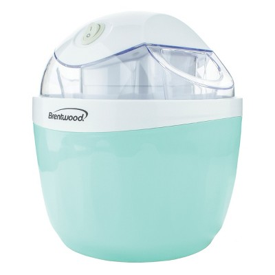 Brentwood 1 Quart Ice Cream and Sorbet Maker, Frozen Yogurt, Gelato, and Custard Machine in Blue