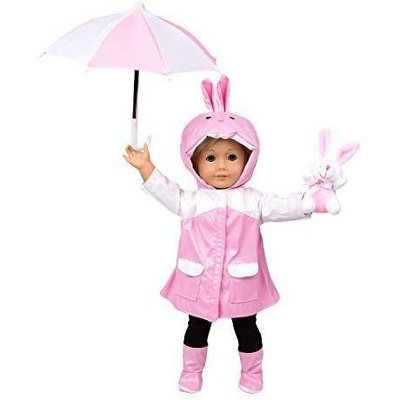 Dress Along Dolly Easter Bunny Rain Outfit for American Girl Doll