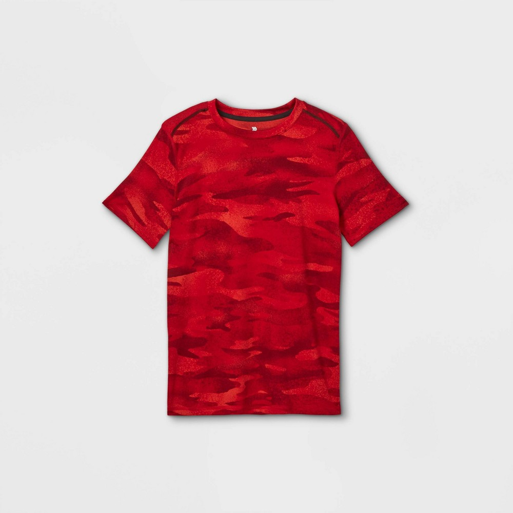 Boys 39 Short Sleeve Athletic T Shirt All In Motion 8482 Red Xxl