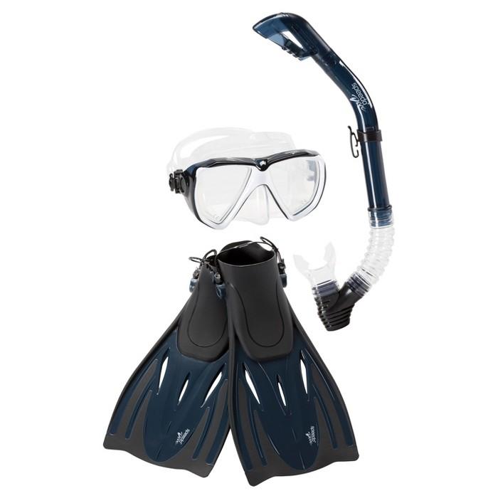 Speedo Adult Hydroscope Snorkel Set - 4pc - image 1 of 3