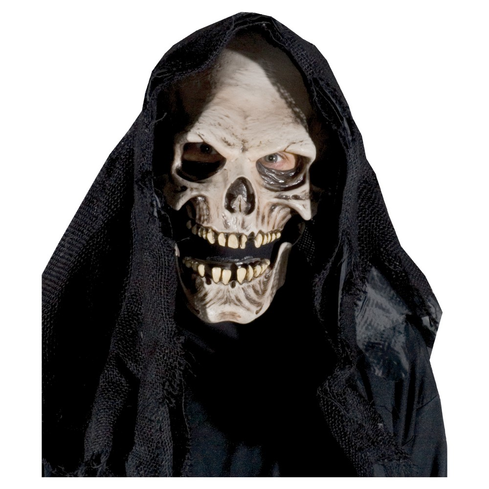 Grim Reaper Costume Mask, Men's, Multi-Colored