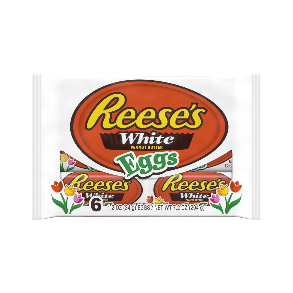 Reese's White Chocolate Peanut Butter Easter Eggs - 6ct/7.2oz